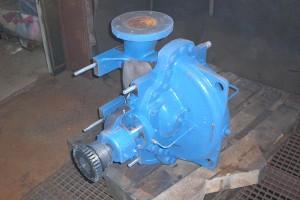 Vorher - Pumpe vor Trockeneisreinigung